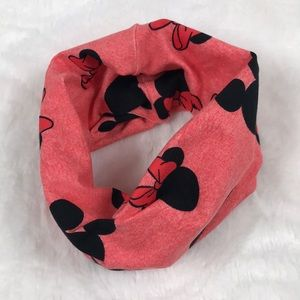Pink Mickey and Minnie Mouse Infinity Scarf